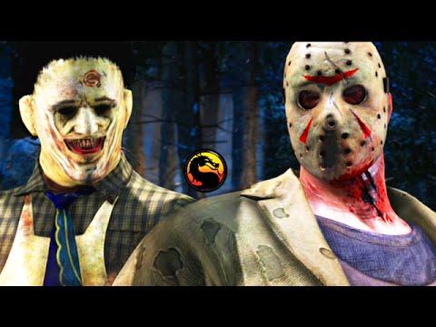 "LEATHERFACE VS JASON - Mortal Kombat X ""Leatherface"" & ""Jason Voorhees"" Fatalities Gameplay! (MKXL)"