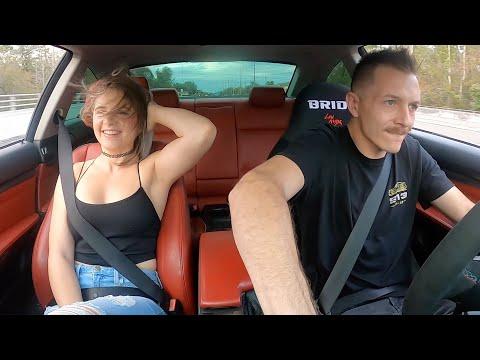 Scaring my Girlfriend in my Single Turbo 335i!
