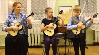Гимн России ( укулеле),табы./ Russian anthem (ukulele with tablature)