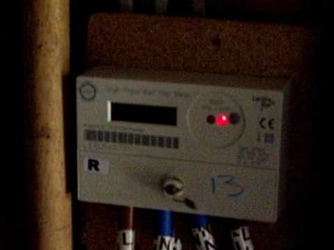 Behaviour of electricity meter with reverse flow.
