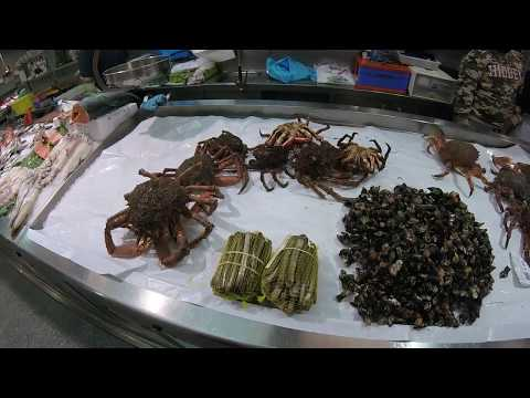 🔵 Fish Market Galicia Spain - Galician Food - A Wide Variety Of Seafood