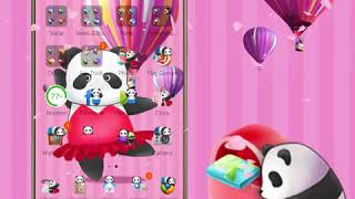 China Pink Panda Dancing Cute Theme