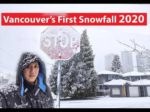 Vancouver First Snowfall Of 2020