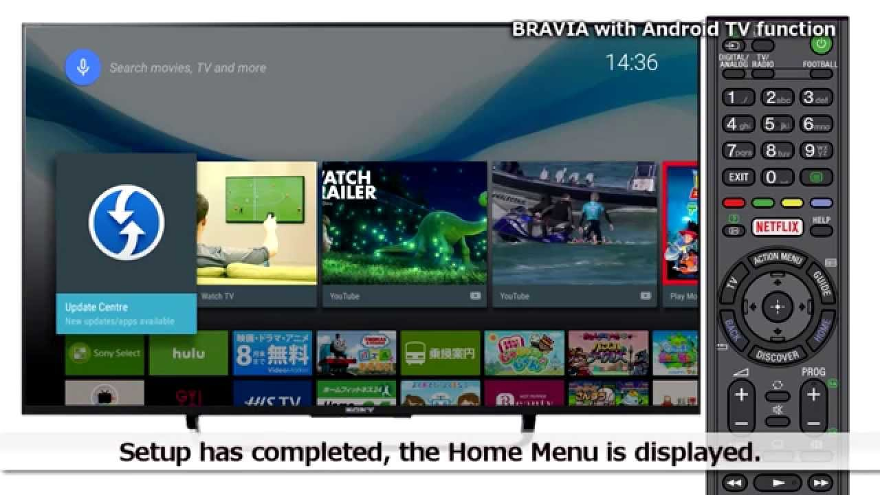 Sony LCD TV BRAVIA Android TV : Initial SetUp Guide