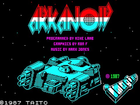 Arkanoid on the ZX Spectrum (Letsplay/Gameplay)