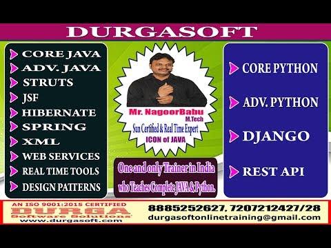 Python Class Room Video by Mr. Nagoor Babu Sir @ DURGASOFT thumbnail