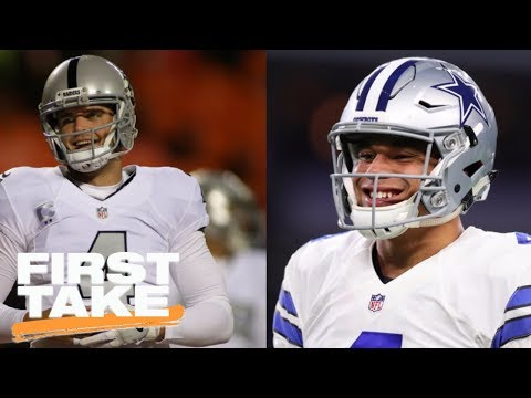 Will Dak Prescott Or Derek Carr Win A Super Bowl First? | First Take | June 20, 2017
