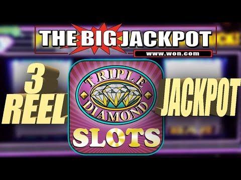 3 REEL JACKPOT ✦ $180 SPIN HIGH LIMIT ✦ TRIPLE DIAMOND SLOT WIN! - The Big Jackpot - 동영상