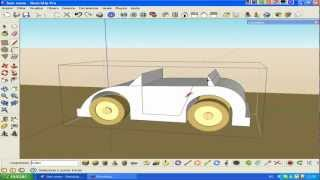 Video aula -Carro ( Car ) no SketchUp & SketchyPhysics -aula 1 de 2