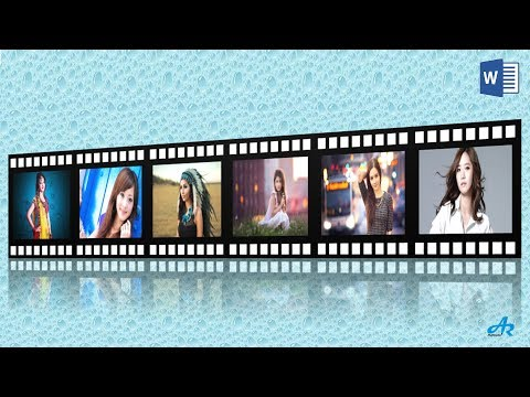 MS Word Tutorial: How to Create 3D Film Strip Design in Microsoft Word| 3D Film Strip Effect AR