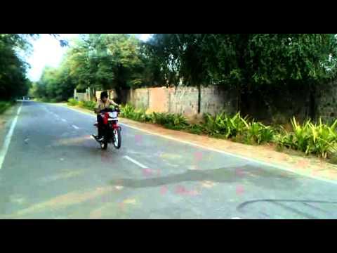 Ashish james Bike Stunt