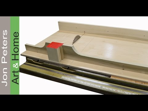 Easy to Make, BIG! Table Saw Crosscut Sled