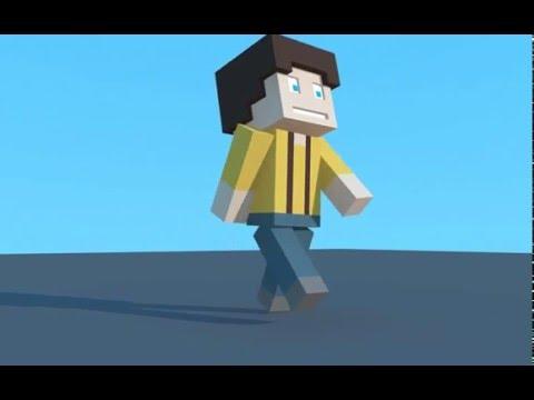 The Child-Cinema 4d minecraft animation test