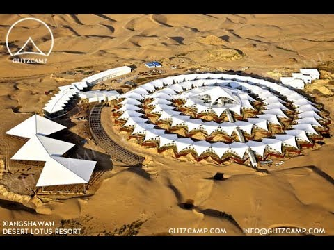 The Biggest Desert Resort - Mongolia Lotus Resort -Glitzcamp Glamping Tent For Retreat