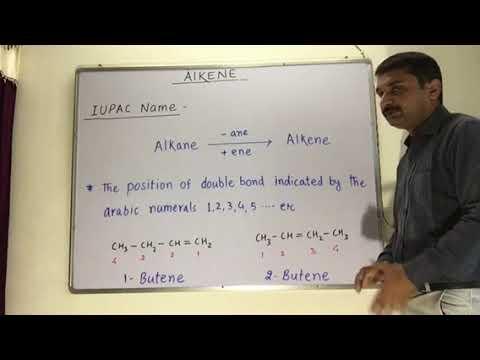 Common / Trivial Name & IUPAC Name Of Alkenes