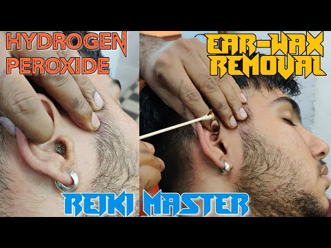 REIKI MASTER💈Ear Wax Removal and Cleaning with Hydrogen Peroxide💈MASTER ASMR💈ASMR