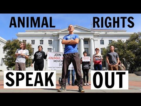 This Speech Will Turn You VEGAN🐮❤️UC Berkeley Protest