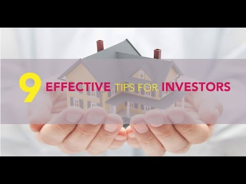 9 Effective Tips For Investors
