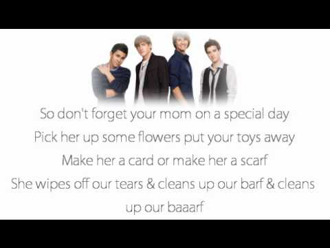 Big Time Rush - The Mom Song lyrics
