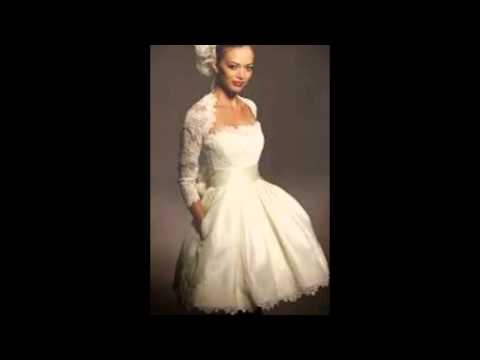 Wedding Dresses For Short Brides - YouTube