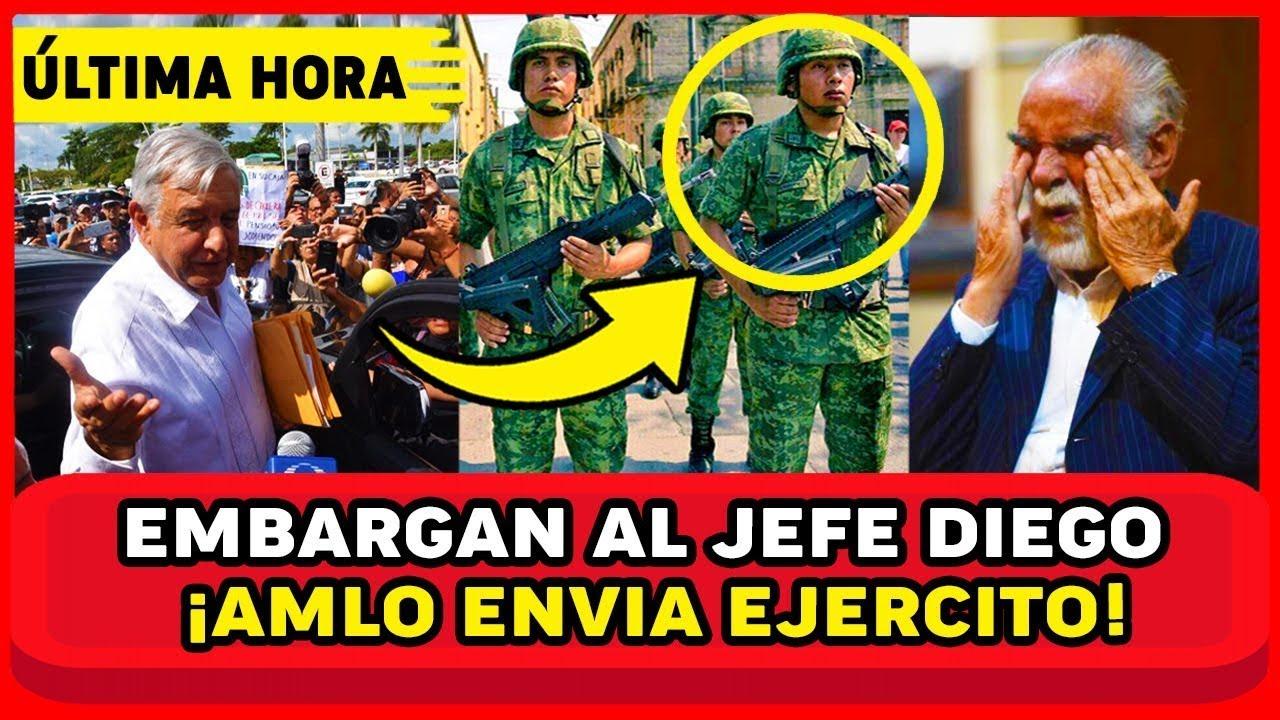 AMLO SE CHINGA A JEFE DIEGO! REVELA TELEFONAZO! DIEGO LO AM3NAZ4! Y EJ3RC1T0 RESPONDE MEXICO NOTICIA