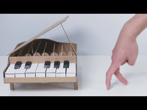 How to make Amazing Cardboard Grand Piano for finger man