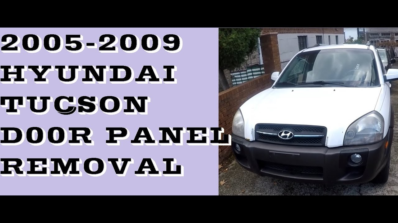 How to remove/take off door panel in 05-09 Hyundai Tucson  sc 1 st  YouTube & How to remove/take off door panel in 05-09 Hyundai Tucson - YouTube