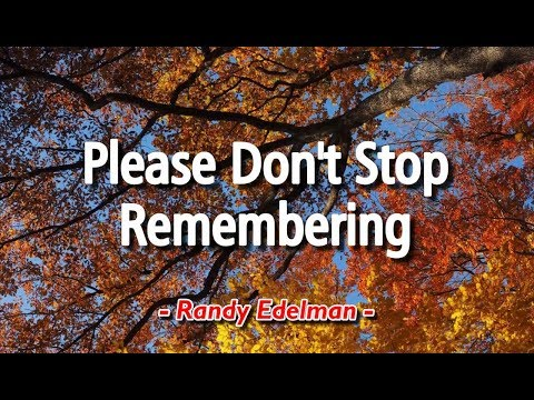 Please Don't Stop Remembering - Randy Edelman (KARAOKE)