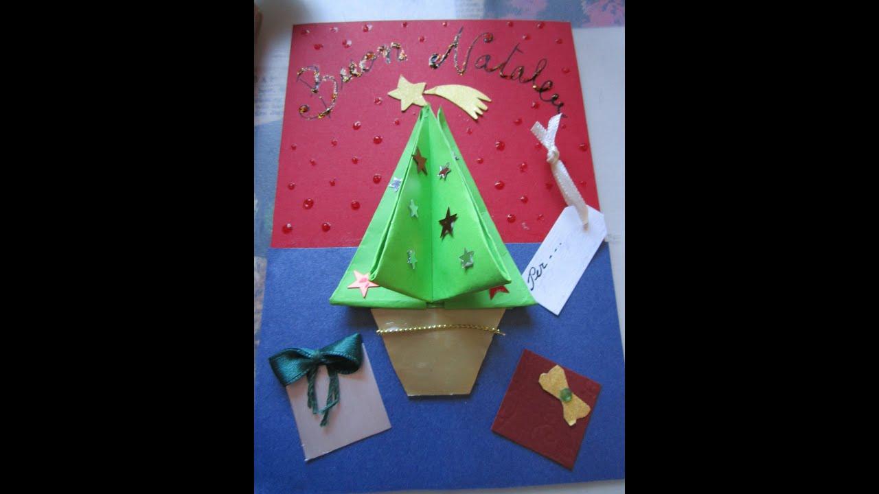 Super Come fare un biglietto di auguri con un origami a forma di albero  SH49