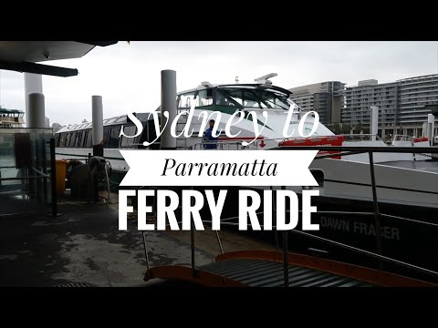 Sydney To Parramatta Ferry Trip On The MV Dawn Fraser