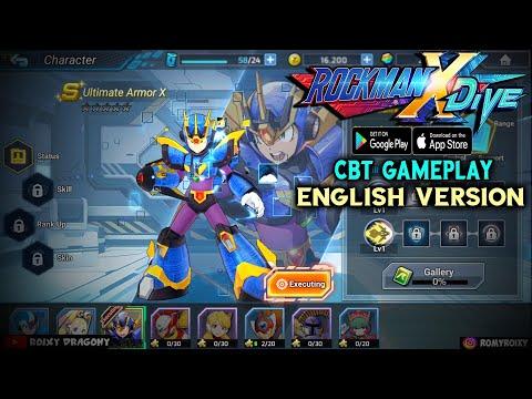 Seruu Seruu - Versi GLOBAL !!! Megaman Rockman X Dive (ENG) Android CBT Gameplay