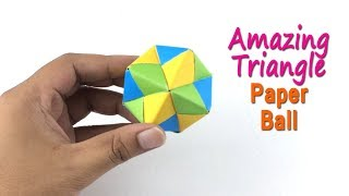 Triangle Paper Ball | Amazing DIY Ball Making Out of Paper | Wall Hanging Decoration Ideas