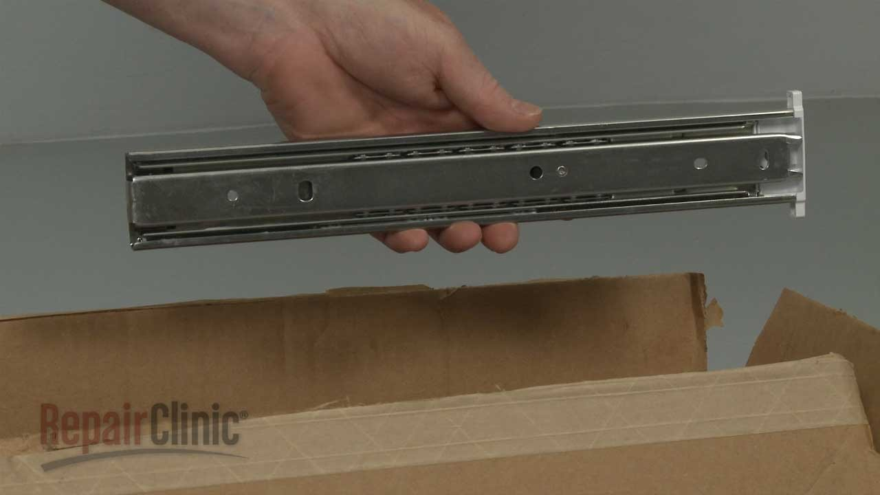 Frigidaire Refrigerator Deli Drawer Slide Rail 242197901 Youtube