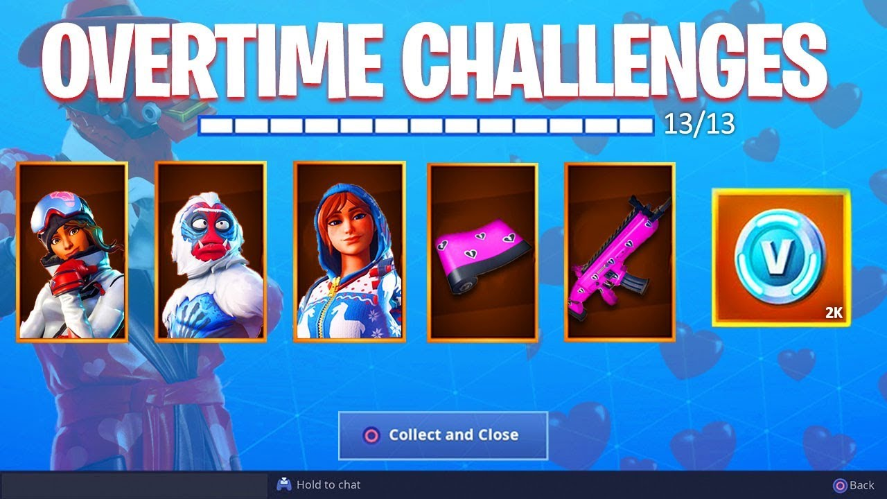 new overtime challenges unlocked fortnite free challenge rewards - new overtime challenges fortnite today