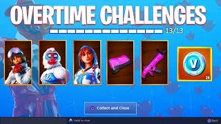 *NEW* OVERTIME CHALLENGES UNLOCKED! (Fortnite: Free Challenge Rewards)
