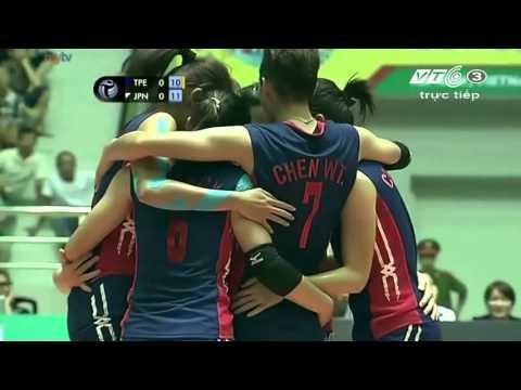 Taiwan Power(Chinese Taipei) พบ Hisamitsu Springs (Japan) วอลเลย์บอลสโมสรหญิงชิงแชมป์เอเชีย