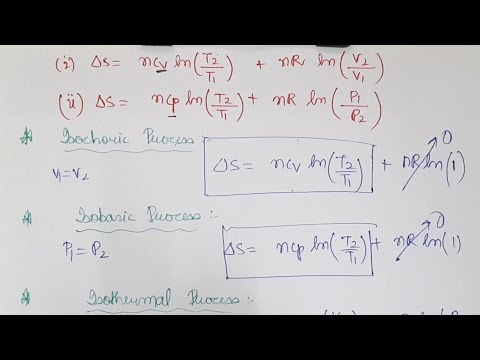 Thermodynamics(Part V): Entropy Calculations, Gibbs Free Energy