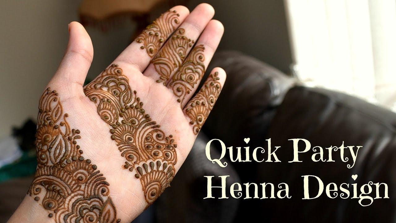 Mehndi Designs Tutorial Youtube : Diy henna design quick minute party mehndi tutorial