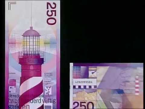 Dutch 250 guilder banknote design - De vuurtoren van Ootje Oxenaar