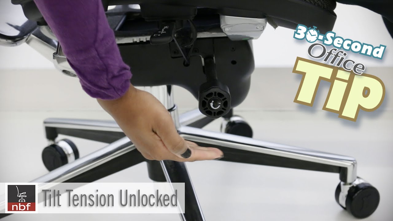 Chair Tilt Tension  NBF 30 Second Office Tip  YouTube
