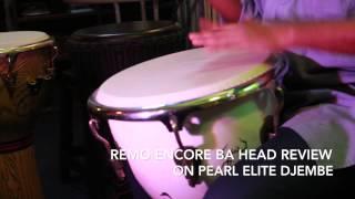 drumhead review remo encore ba head on pearl elite wood djembe hd   drum simfoni