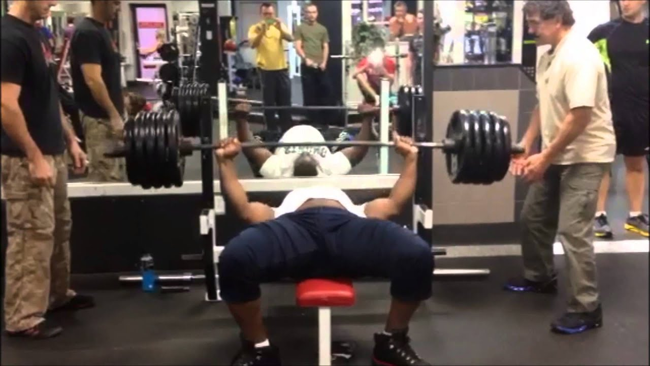 bench press 475 for 2 reps iron biby - youtube