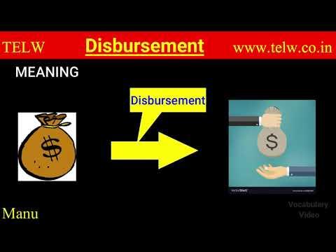 Disbursement meaning in loan | Learn to pronounce | Disbursement synonyms | disbursement vs payment