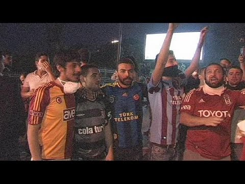 Turkish football fans unite and join protests in Istanbul