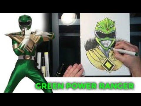 Green Power Ranger Drawing