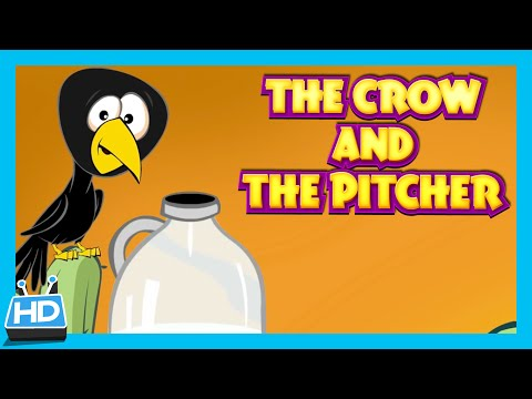 The Crow and The Pitcher Story | The Thirsty Crow Story In English by Kids Hut | Moral Story
