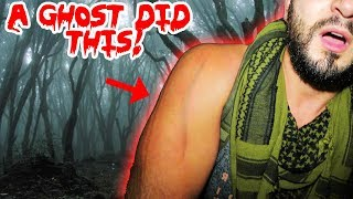 A GHOST DID THIS TO ME IN SLENDERMAN HAUNTED FOREST! | MOE SARGI