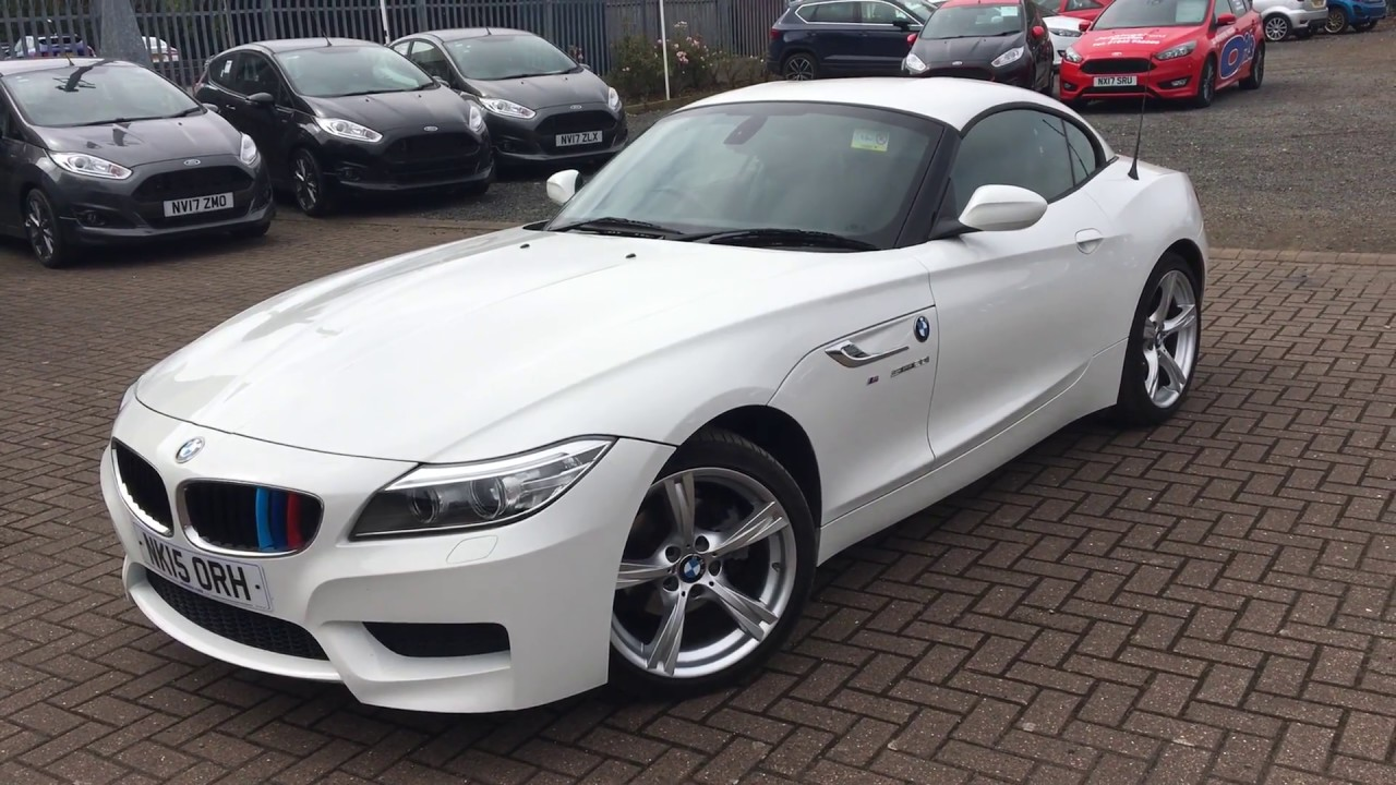 used bmw z4 20i sdrive m sport 2dr white 2015 youtube. Black Bedroom Furniture Sets. Home Design Ideas