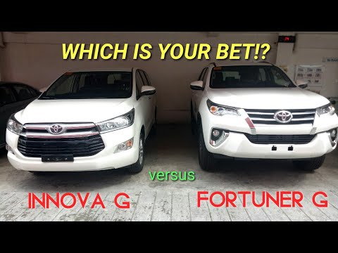 FORTUNER G versus INNOVA G | FREEDOM WHITE / PEARL WHITE | QUICK VIEW