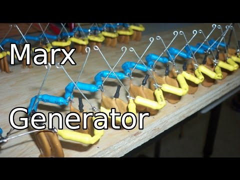 Homemade Marx Generator - High Voltage Sparks
